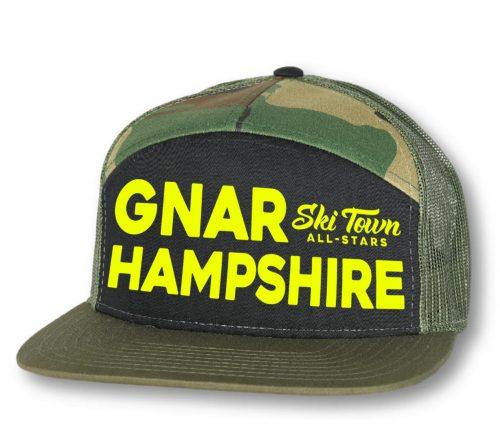 Ski Town All Stars Gnar Hampshire 7 Panel Camo Hat