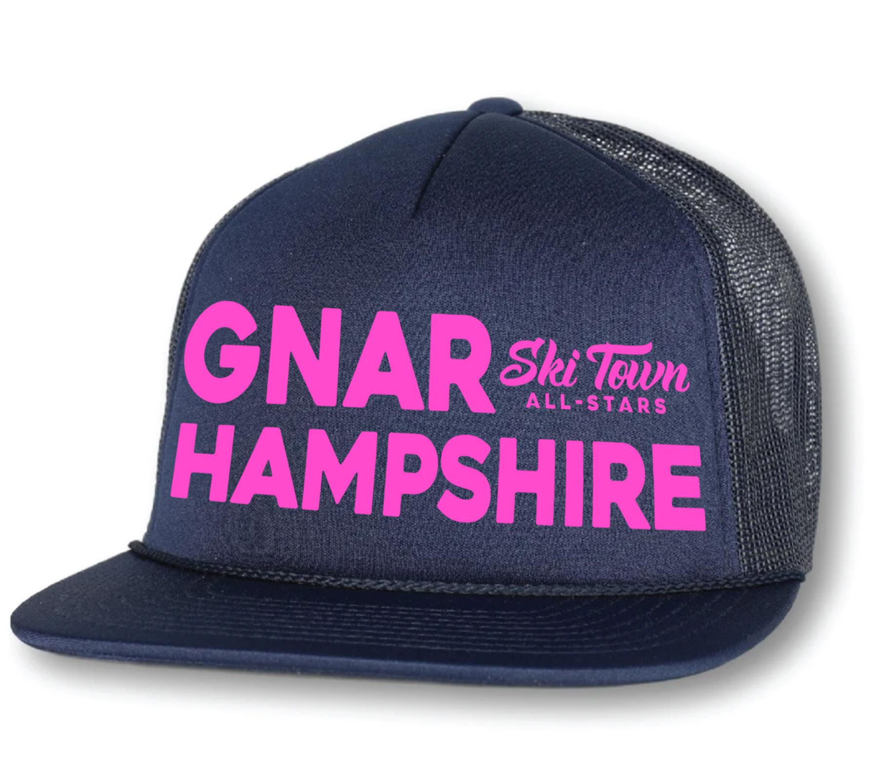 Ski Town All Stars Gnar Hampshire Trucker Hat